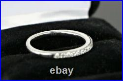 $1,550 Artiste 14K White Gold Round Diamond Wedding Anniversary Ring Band Sz 5.5