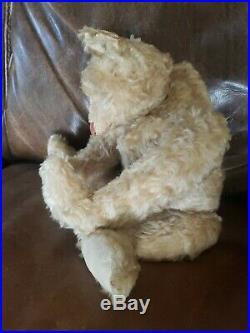 20 White Center Seam Antiqued Teddy Bear Artist Terry Woods Mohair Teddy Bear