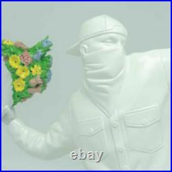 BANKSY FLOWER BOMBER Ceramics Statue Graffiti Artist Sculpture Figure Model 14in