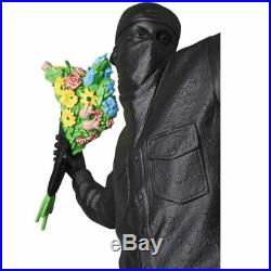 Banksy Throw Flower Boy Street Art Artist Industrial 36cm Height Resin Statue