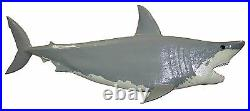 Chainsaw Carving HUGE 49 Great White Shark Carved Jaws Signed Original Wall Art