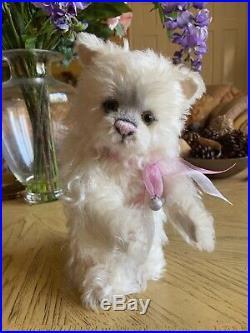 Charlie Bears Snowball 11 inch White Mohair Kitten VHTF