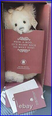 Charlie Bears Year Bear 2021 Mohair Alpaca 17 Isabelle Lee & Bag New Sold Out