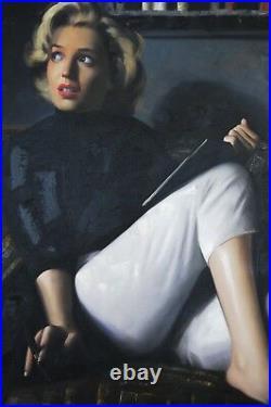 DI Capri Original Oil Painting Canvas Marilyn Monroe Portrait White Edition 18