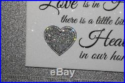 Diamond Embellished Sparkly Silver glitter Heaven canvas