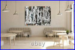FIGURATIVE ART WHITE # XXL LIFESIZE FIGURES HUMANS BLUE PEOPLE HUMANS 78 x 60