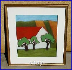 JAIME ELLSWORTH White Barn and Three Trees Original Pastel $$$ Gallery Artist