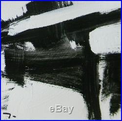 JOSE TRUJILLO Acrylic Painting 9 Black & White ABSTRACT ART MODERNISM DECOR