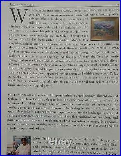 JOSE TRUJILLO FRAMED Oil Painting IMPRESSIONISM WHITE FLOWERS BOUQUET VASE COA