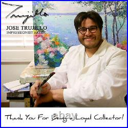 JOSE TRUJILLO NEW Oil Painting ABSTRACT Expressionism MODERNISM 6x8 WHITE