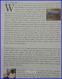 JOSE TRUJILLO ORIGINAL Oil Painting IMPRESSIONISM WHITE ROSES VASE GLASS DECOR