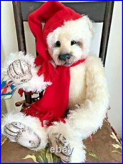 Jasper mohair bear by M. Zemeski, OOAK, winter theme, mint withtag