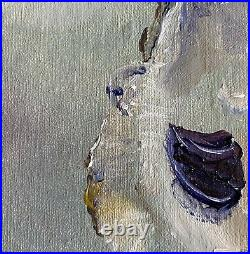 KRISTINE KAINER ORIGINAL Oyster Shell Oil Daily Painting a Day