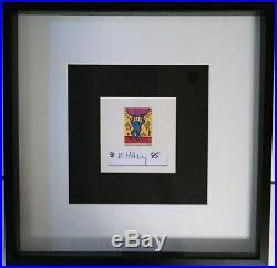 Keith Haring limited edition print with artist signature FRAMED