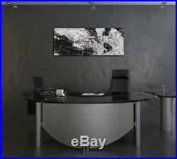 Modern Black & White Abstract Painting Metal Wall Art Original Digital Design