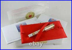 Montegrappa White Nights Gold Limited Edition Fountain Pen Artist Proof