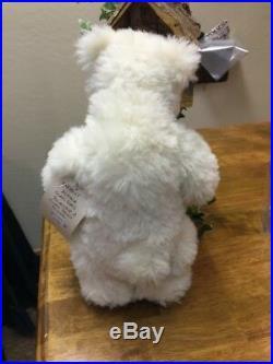 NEW Beautiful Handmade Artist Polar Bear by Sharon Queen, Mohair EVEREST