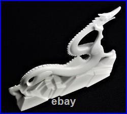 Noritake Dragon Figurine Nippon Porcelain Signed by Artist Vintage