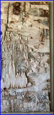Original Minimal Textured Chiseled Painting On Reclaimed Wood By K. A. Davis