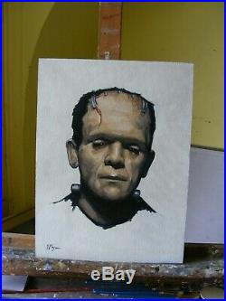 Original oil painting portrait mary shelley frankenstein by UK artist j payne