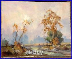 Orrin A. White 1883-1969 Arroya Pasadena Scene California Plein Air Artist