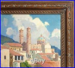 Orrin A. White 1883-1969 Taxco Mexico Cathedral California Plein Air Artist