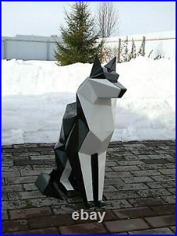 Polygon steel sculpture Wolf