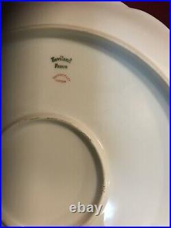 Rare Haviland Limoges American Beauty M. Naudin Artist Chop Plate Round Platter