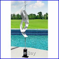 Stunning WHITE MASSIVE METAL sculpture 94 Indoor/Outdoor Yard Art Statue