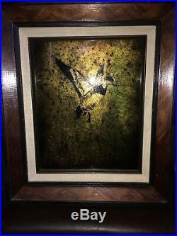 Texas Artist Jack White Gold Leaf Mallard Echruseos Painting