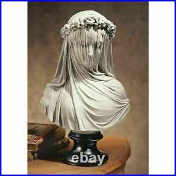 VEILED MAIDEN BUST HANDMADE 14 SCULPTURE Replica By Italian Artist Raph Monti