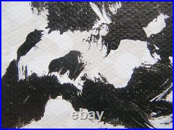 Very Large Black And White Tree Landscape Modern Art Acrylic Painting On Canvas