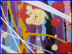 Very Large Original Spot Dot Drip Contemporary Modern Canvas Wall Art Painting