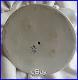 Vintage Herend Porcelain Nude Lady Figure Bath Baby Face Hungarian Artist Signed