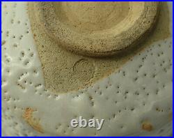 Vintage Japanese Pottery Tea Bowl Chawan Shino Ware Ceremony Artist Sgn