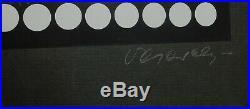 Vintage Modern OP ART Serigraph Artist Signed Print Victor Vasarely Black White