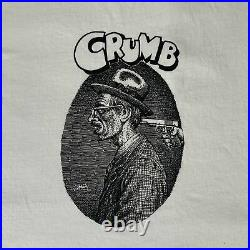 Vintage Robert Crumb Crumb T-Shirt Retro Comic Cartoon Artist Tee