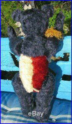 Vintage Teddy Bear Red Whit Blue Mohair Patriotic Star 20 Artist Judy Senk Ooak
