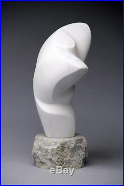 White Marble Stone Sculpture, Abstract Male Torso