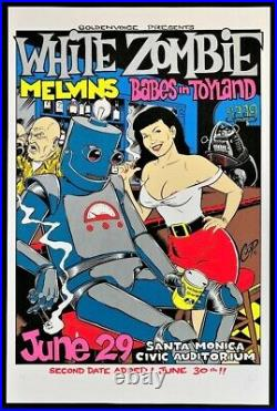 White Zombie POSTER Melvins Babes In Toyland Artist Proof A/P Signed Coop Mint