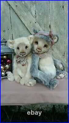 Winter Coco and Clare Handmade bear Ooak collectors bear Artist Bear 17